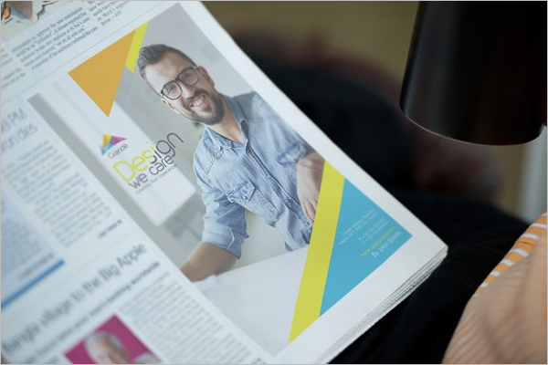 Newspaper Ade Mockup