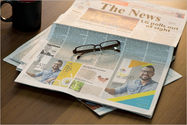 Newspaper Advertising Mock up