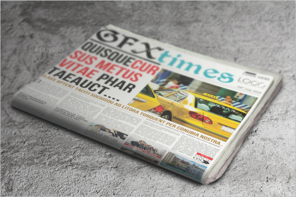 Newspaper Mock up Model