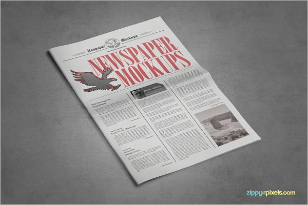 Newspaper Mock up Photoshop