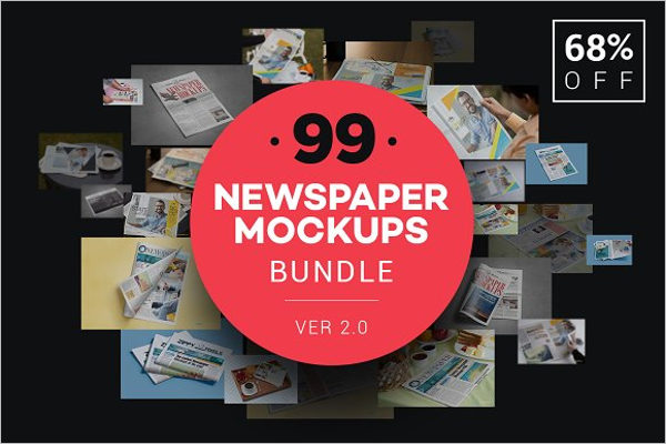 Newspaper Mockup Bundle