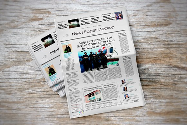 Newspaper Spread Mockup