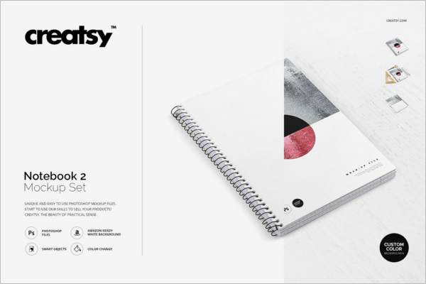 Notepad Mockup Set