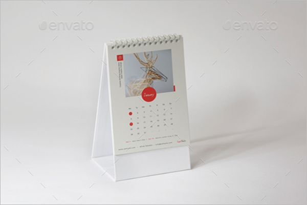Office Desk Calendar Mockup