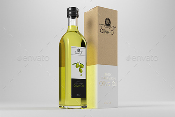 Olive Oil Packing Mockup