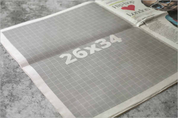 Open Newspaper Mockup