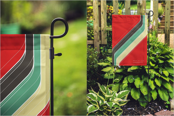 Outdoor Flag Mockup Design