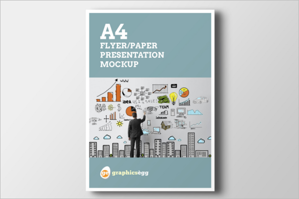 PSD A4 Flyer Mockup Set