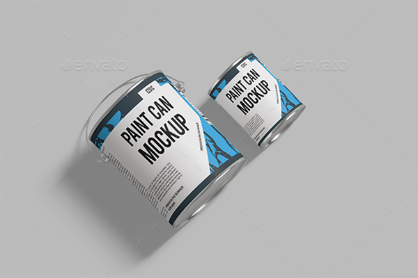 Paint Can Mockup Design