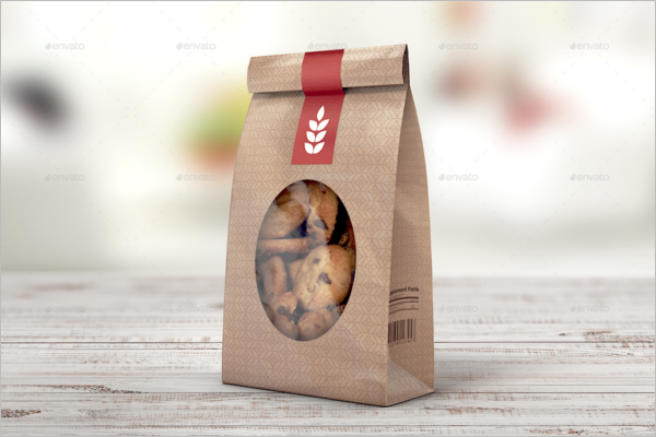 Paper Bag Mockup Background Template