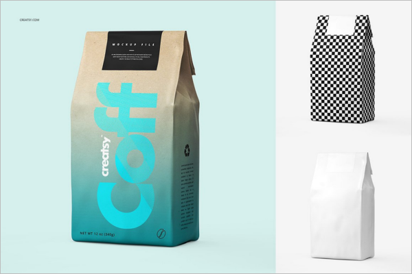 Paper Bag Mockup Set Template