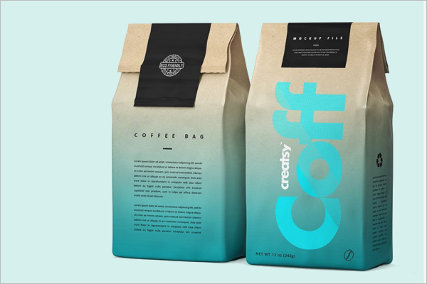 Paper Coffee Packaging Mockup