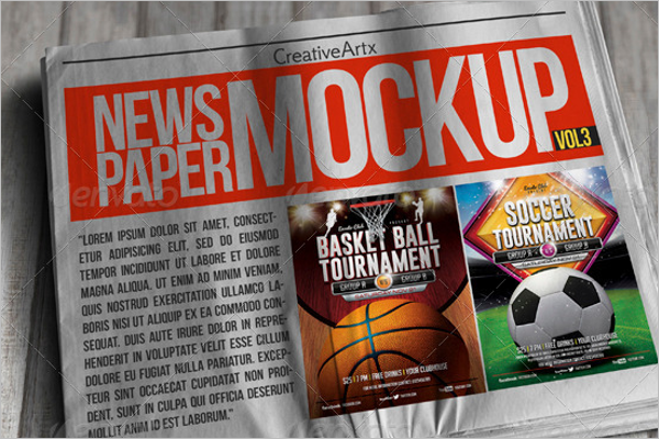 Photo Newspaper Mockup