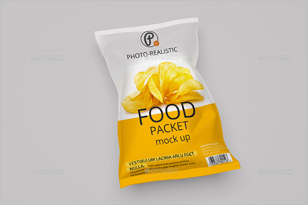 Photo Packing Bag Mockup