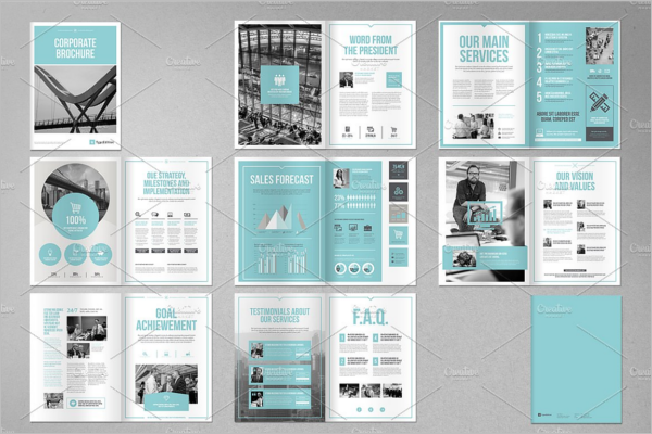 Photorealistic A4 Brochure Template