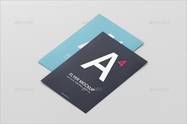 Photorealistic A4 Flyer Mockup Design