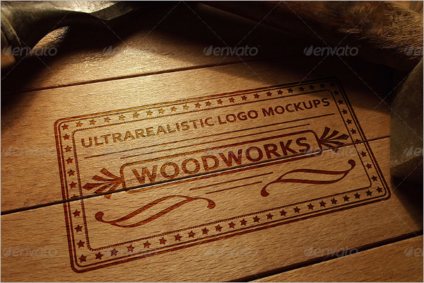 Photorealistic Wood Log Mockup Design