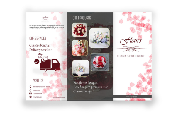 Photoshop Florist Brochure Design