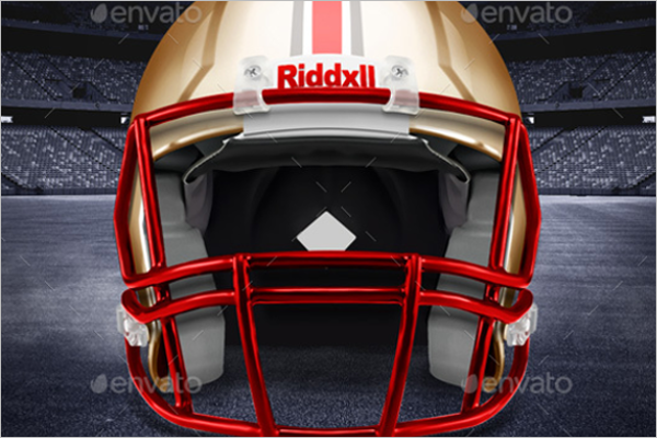 Photoshop Football Helmet Mockup