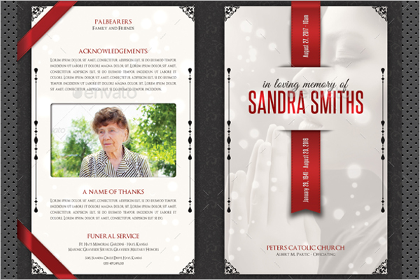 Photoshop Funeral Brochure Design