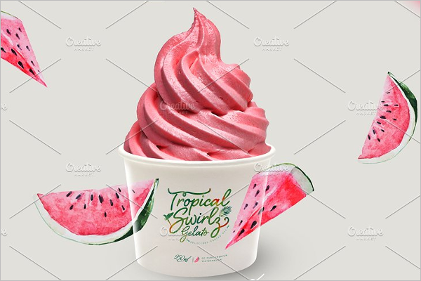 Photoshop Ice Cream Cup Mockup Design