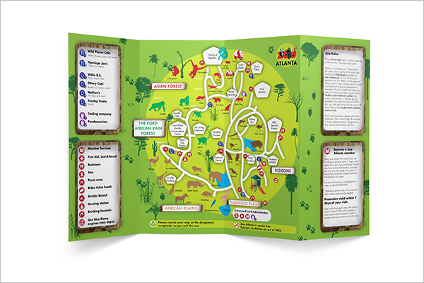 Photoshop Zoo Brochure Design