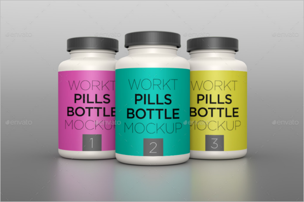 Pills Bottle Mockup Design