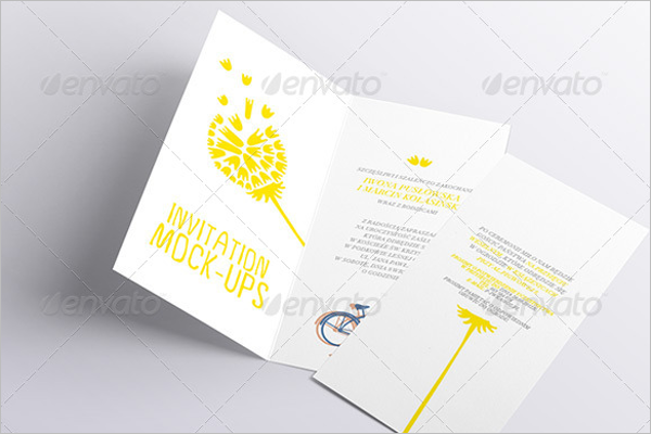 Plan Invitation Card Mockup
