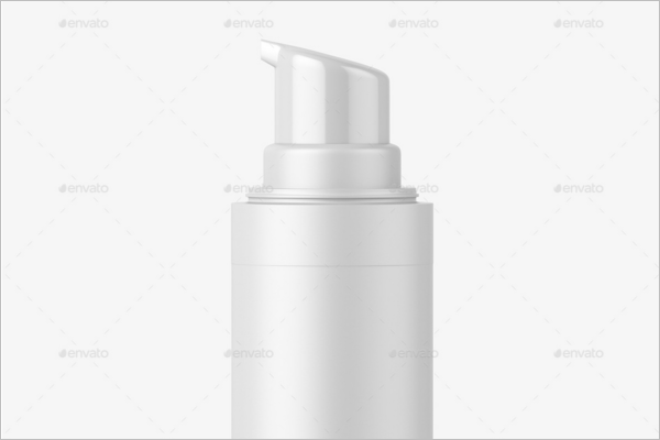 Plastic Airless Bottle Mockup