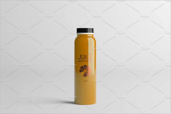Plastic Bottle Design Mockup