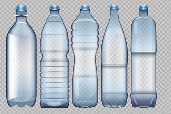Plastic Bottle Mockup Set