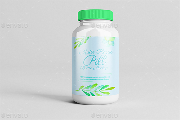 Plastic Pill Bottle Mockup