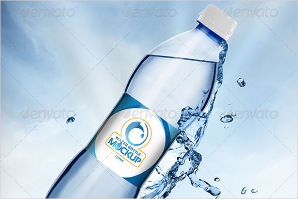Plastic Water Bottle Mockup Design