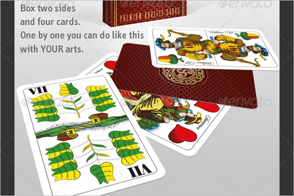 Playing Card Business Mockup