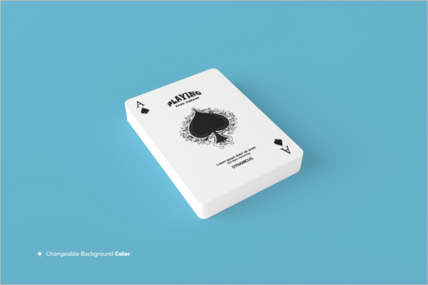 Playing Card PSD Mockup