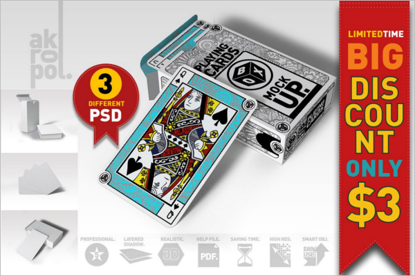 Playing Card Poker Mockup