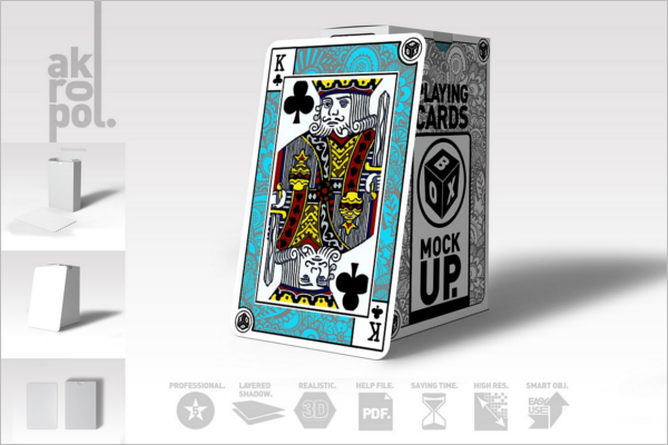 Premium Playing Card Mockup