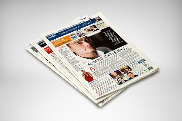 Press Newspaper Mock up