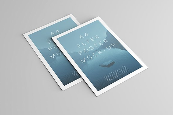 Printable A4 Flyer Mockup Design