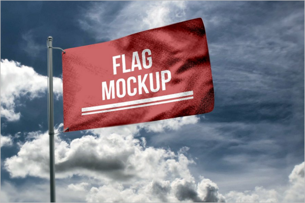 Printable Flag Mockup Design