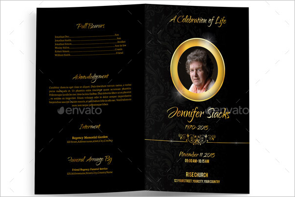Printable Funeral Brochure Design