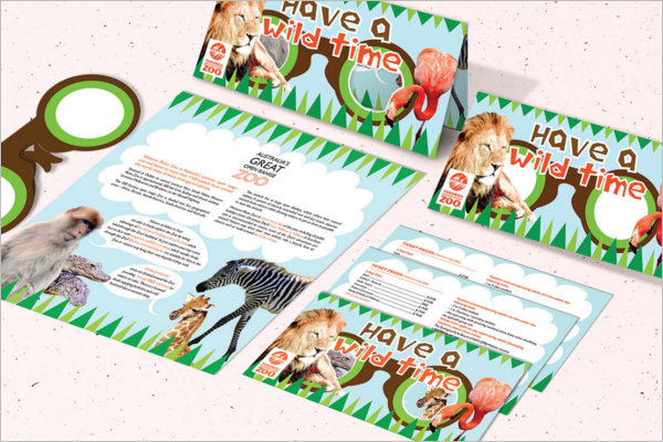 Printable Zoo Brochure Design