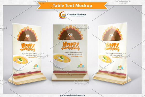 Professional Table Tent Card Mockup
