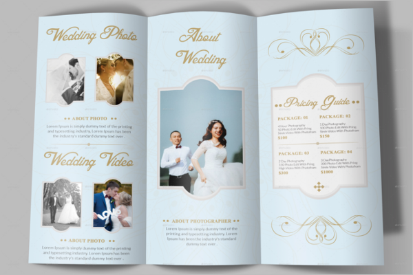 Professional Wedding Brochure Template