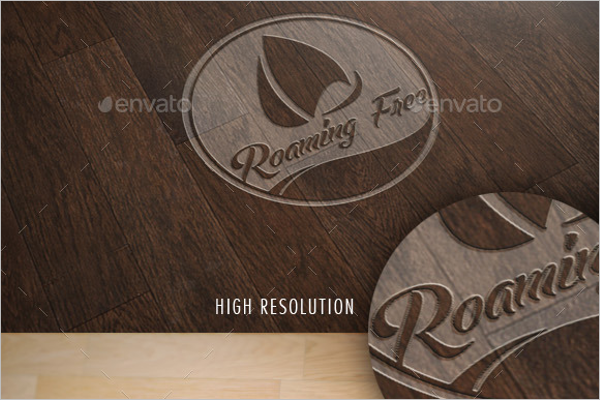 Professional Wood Log Mockup Template
