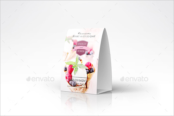 Promotional Table Tent Card Mockup