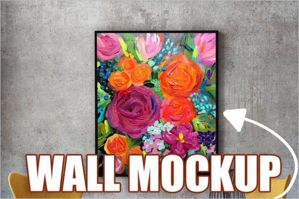 REalistic Wall Art Mockup Template