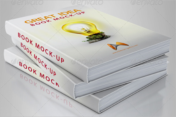 Realistic Book Cover Mockup Template