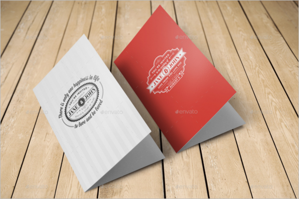Realistic Invitation Card Mockup
