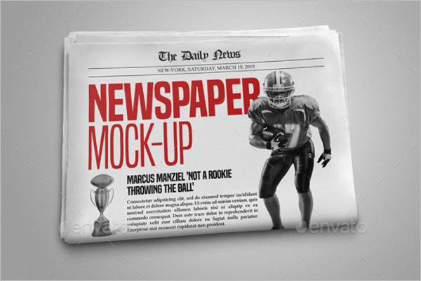 Realistic Newspaper Mock up